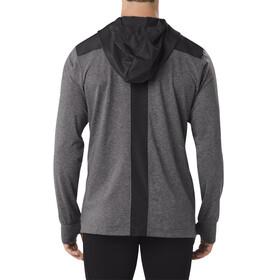 asics Thermopolis Maglietta corsa maniche lunghe Uomo grigio/nero